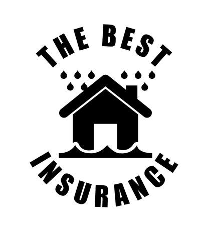 water damage: insurance graphic design , vector illustration