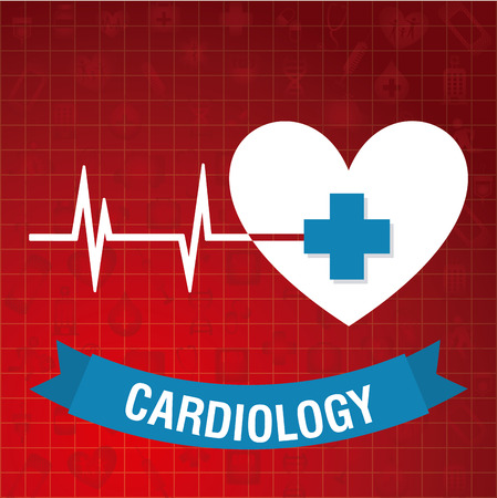 cardiology: cardiology graphic design , vector illustration