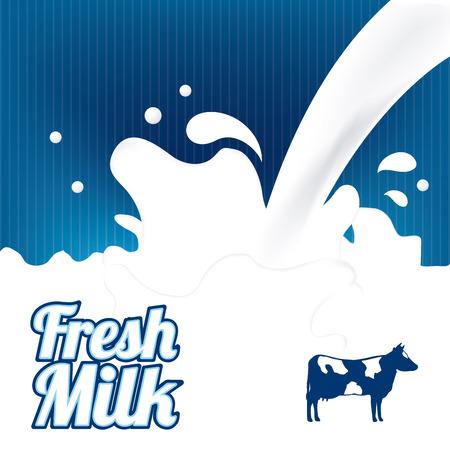 splash milk: milk graphic design , vector illustration
