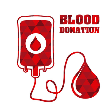 Doneren van bloed grafisch ontwerp, vector illustratie Stockfoto - 33745925
