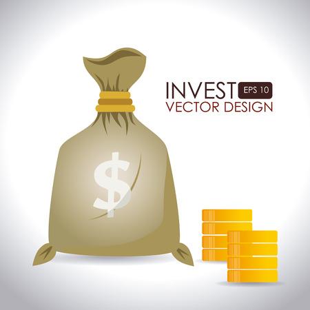 Money design over white background,vector illustration