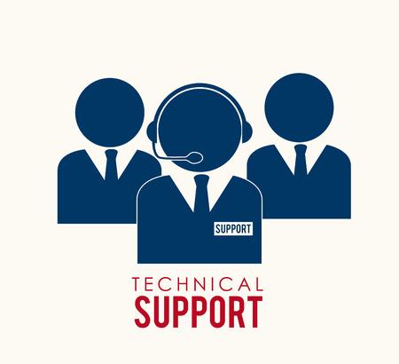 callcenter: Support design over white background,vector illustration
