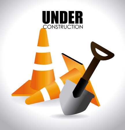 recondition: Under construction design over white background,vector illustration