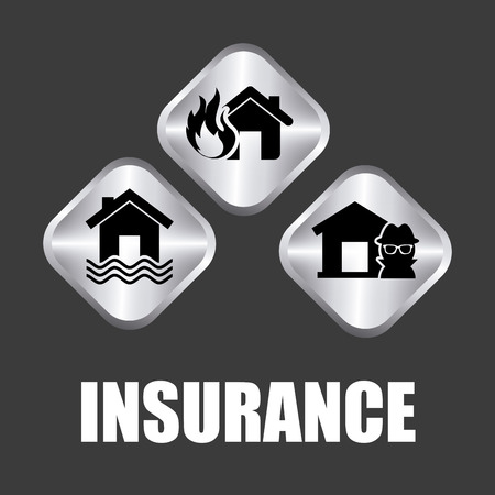 fire damage: insurance graphic design , vector illustration