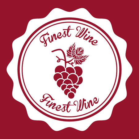 finest: wine graphic design , vector illustration