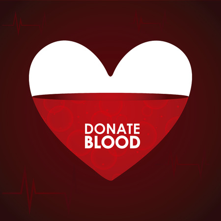 rh: donate blood graphic design , vector illustration