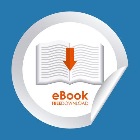 ebook graphic design , vector illustration Vector