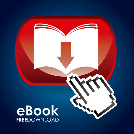 e magazine: ebook graphic design , vector illustration