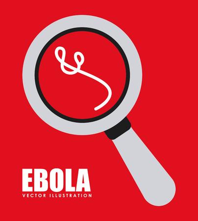 deadly danger sign: ebola graphic design , vector illustration