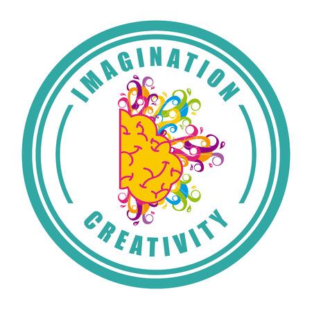 contemplation: idea graphic design , vector illustration