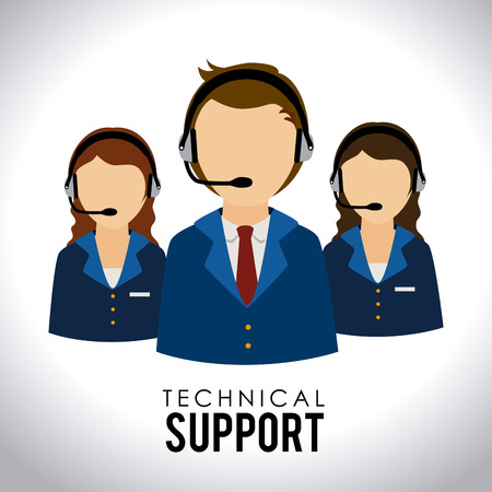 technical support: Support design over white background,vector illustration