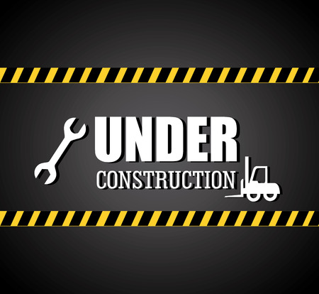 industrial construction: Under construction design over white background,vector illustration