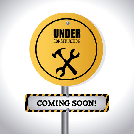 under construction sign: Under construction design over white background,vector illustration