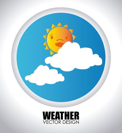 Weather design over white background,vector illustration Illustration