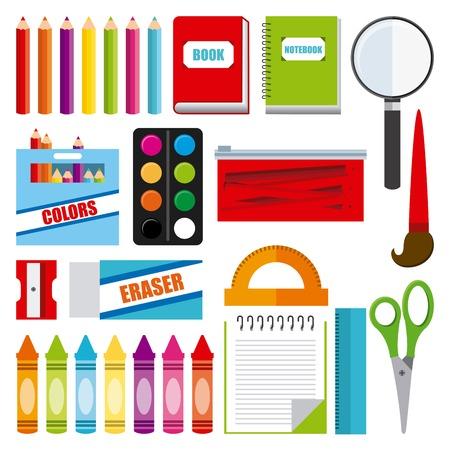 fournitures scolaires: ic�ne de l'�cole conception graphique, illustration vectorielle