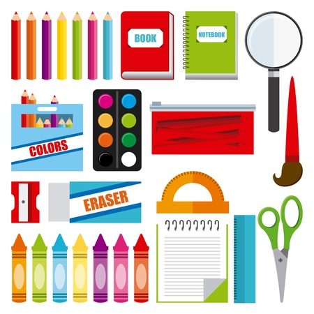 school illustration: school icon graphic design , vector illustration
