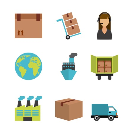 dolly: supply graphic design , vector illustration
