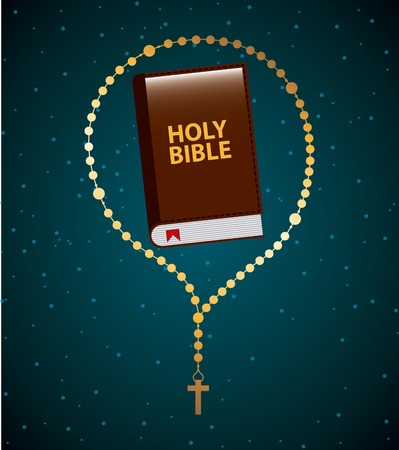 rosary: holy bible graphic design , vector illustration