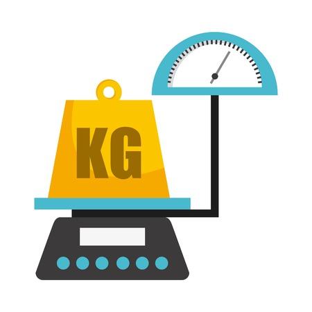 grams: scale graphic design , vector illustration