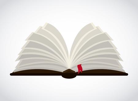 red  open: book graphic design , vector illustration Illustration
