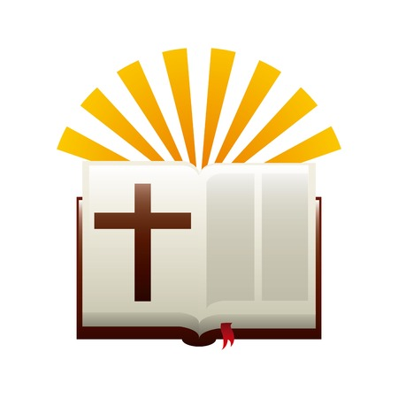 bible light: holy bible graphic design , vector illustration