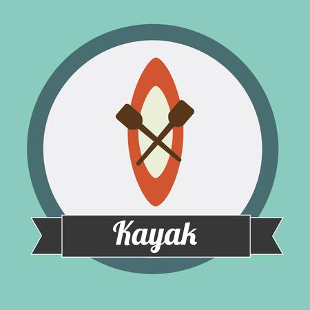 kayak: kayak graphic design , vector illustration
