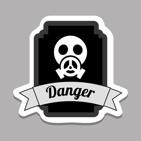 picto: danger graphic design , vector illustration