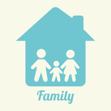 family home: family home graphic design , vector illustration