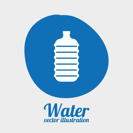 bootle: water graphic design , vector illustration Illustration