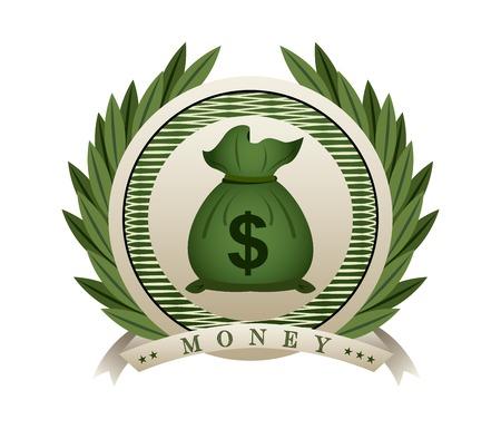 cuenta: dise�o de dinero, ilustraci�n vectorial