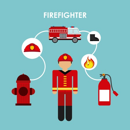 firefighter design , vector illustration Vector