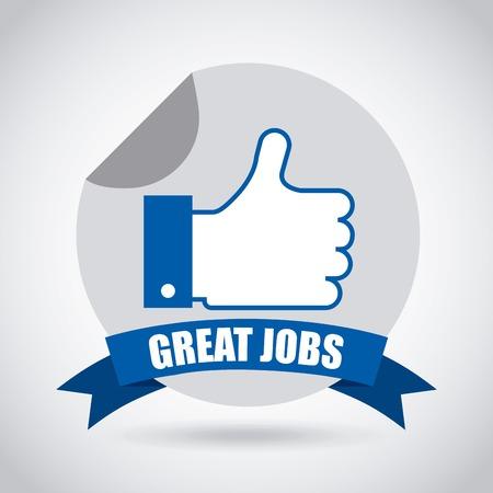 jobs: jobs design , vector illustration