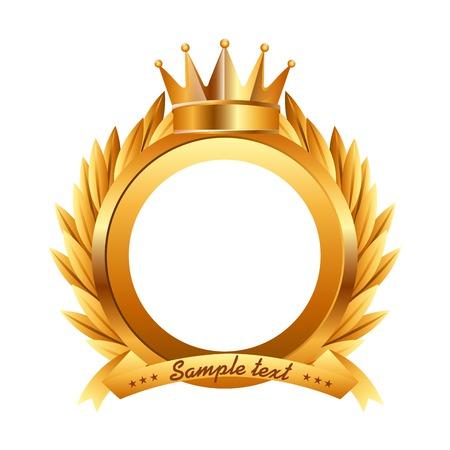 corona de rey: premio de dise�o, ilustraci�n vectorial Vectores