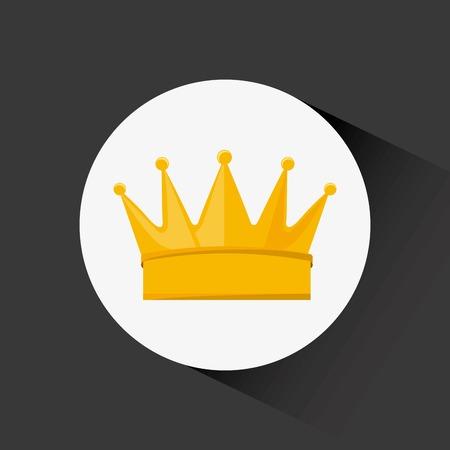 corona rey: premio de dise�o, ilustraci�n vectorial Vectores
