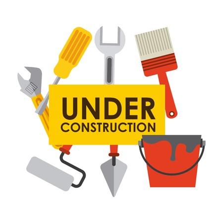 under construction design , vector illustration