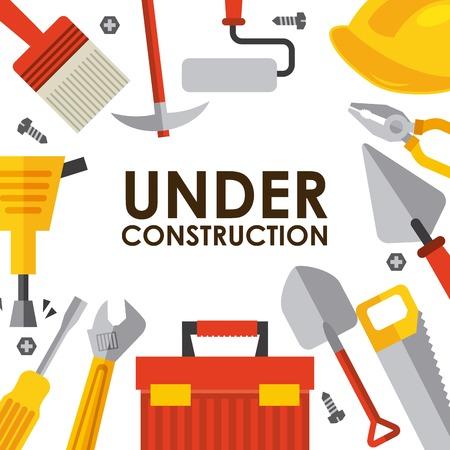under construction design , illustration Vector