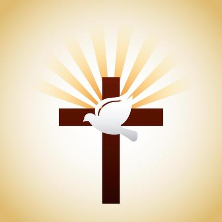 katholieke ontwerp, vector illustratie Stock Illustratie