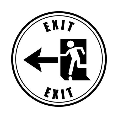 going away: emergency way design , vector illustration