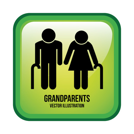 happy old people: grandparents design , vector illustration