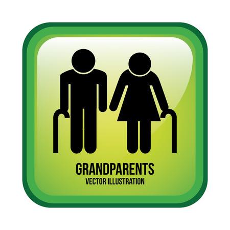grandparents design , vector illustration