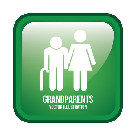 happy older couple: grandparents design , vector illustration