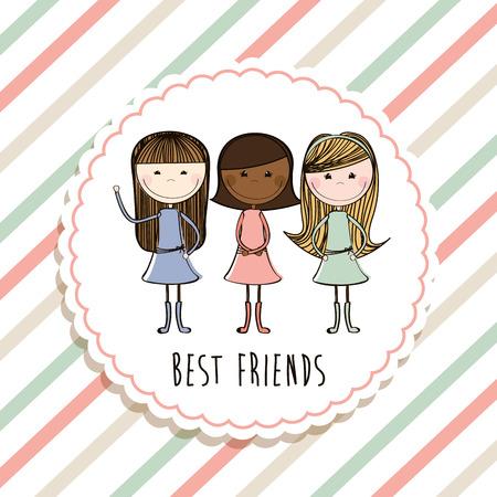 Les meilleures amies de conception, illustration vectorielle Banque d'images - 34143623