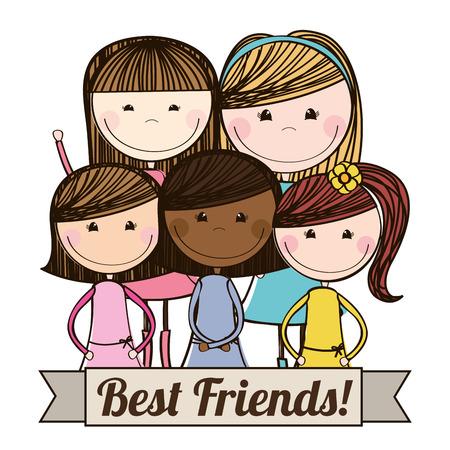 amigo: mejor dise�o de amigos, ilustraci�n vectorial