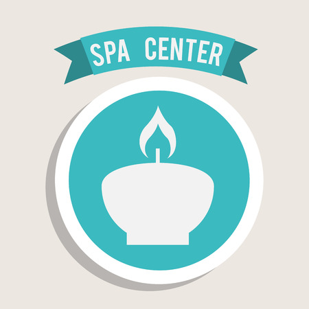 scented candle: spa center design , vector illustration