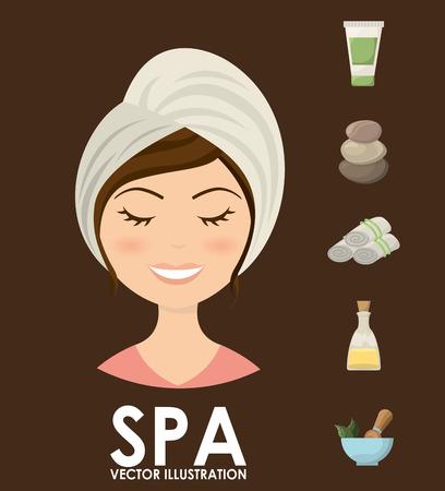 body massage: spa center design , vector illustration