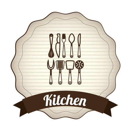 kitchen design , vector illustration Vector
