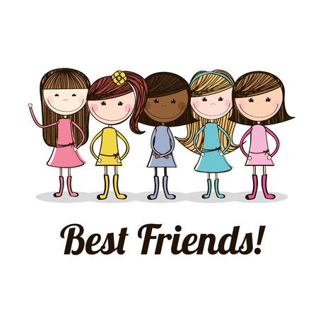 Les meilleures amies de conception, illustration vectorielle Banque d'images - 34138152