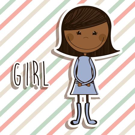 girl design , vector illustration Vector