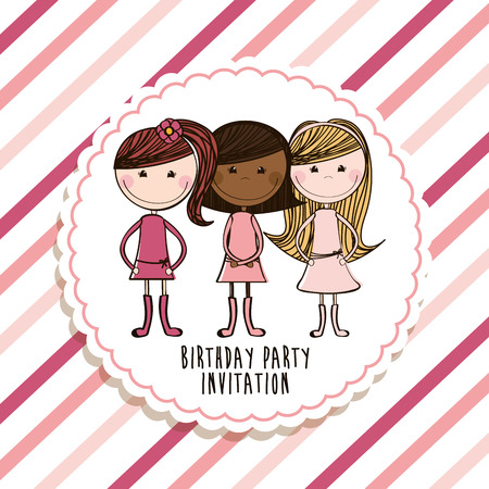 best friends design , vector illustration Vector