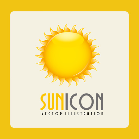 sol caricatura: dise�o del sol, ilustraci�n vectorial